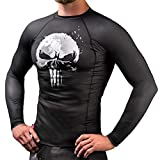 Hayabusa Marvel The Punisher Long Sleeve Jiu Jitsu Rashguard - Black, Medium