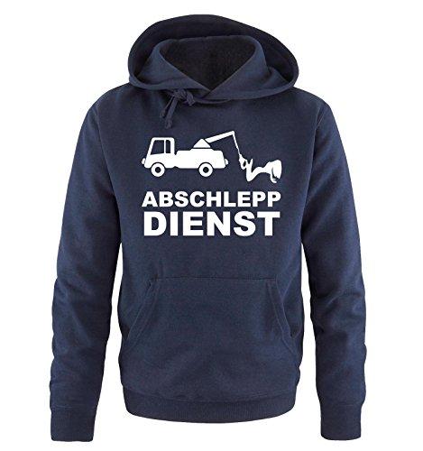 Comedy Shirts ABSCHLEPP Dienst - LKW - Herren Hoodie - Navy / Weiss Gr. XL