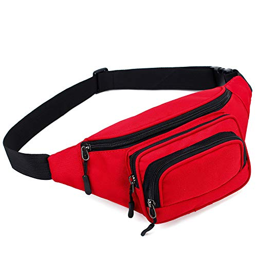 Nylon crossbody zak outdoor running heuptas slijtvaste borst crossbody zak,Red