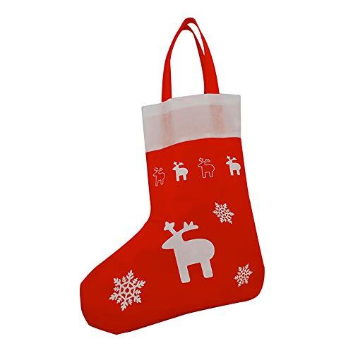 1x Einkaufstasche Design Nikolaus Stiefel | 25 x 35 cm | Polypropylen | PP-Non-Woven-Tasche | Vliestasche | Stofftasche | Tragetaschen | Tüten | Weihnachten | Geschenke