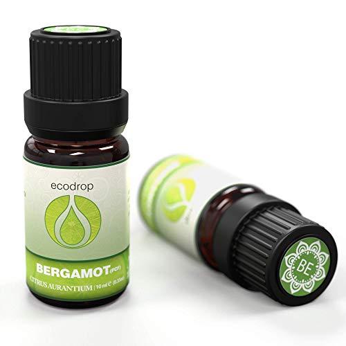 Olio essenziale di bergamotto, (FCF), prodotto biologico certificato COSMOS, puro al 100%, grado terapeutico per aromaterapia, 10 ml, e-book gratuito (Citrus Aurantium Bergamia)
