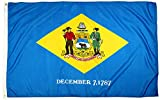 FlagSource Delaware Nylon State Flag, Made in the USA, 3x5