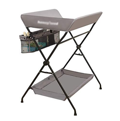 BBYP-YJ baby opvouwbare zorg tabel opvouwbare baby verandering tafel multifunctionele pasgeboren massage tafel met opslag plank grijs