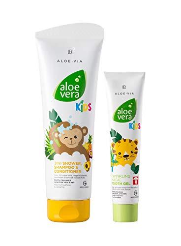 LR Aloe Vera KIDS Dschungelfreunde-Set (3in1 Duschgel, Shampoo & Spülung + Magisch Glitzerndes Zahngel) (DschungelFreunde-Set (Zahngel + 3in1 Shampoo))