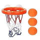 Dilwe Jouet de Basket-Ball pour Le Bain, Panier de Basket avec 3 balles Jeu de tir pour bébés Enfants