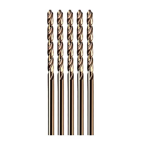 SHOUCAN Juego De Brocas De Cobalto Buena Resistencia Al Desgaste Adecuado para Taladrar En Metal Duro, Acero Inoxidable, Hierro Fundido, 5 Piezas,Diameter 1.5mm