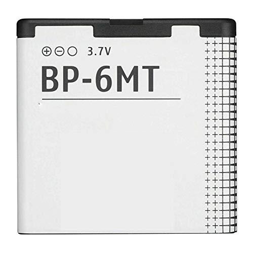 Ellenne Batteria Compatibile con Nokia 6720 E51 N81 N82 BP-6MT BP6MT Alta capacità 1050MAH