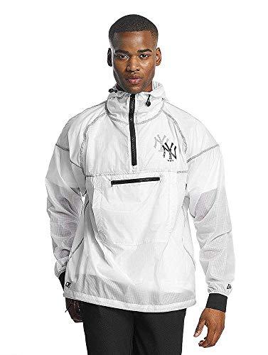 New Era Snow Stealth Smock York Yankees - Chaqueta, Hombre, Blanco transparente (Neyyan), M