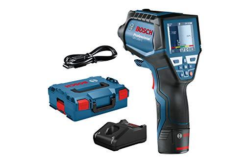 Bosch Professional Thermomètre infrarouge GIS 1000 C (1 batterie 12V + chargeur, avec fonction application, plage de température: -40°C à 1000°C, dans une L-BOXX)