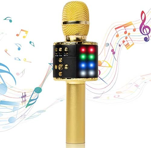 Fifth Avenue Store Wireless Bluetooth Karaoke Microphone with Multi color LED Lights 4 in 1 product image