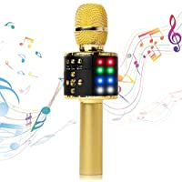 Fifth Avenue-Store Wireless Bluetooth Karaoke Microphone with Multi-color LED Lights