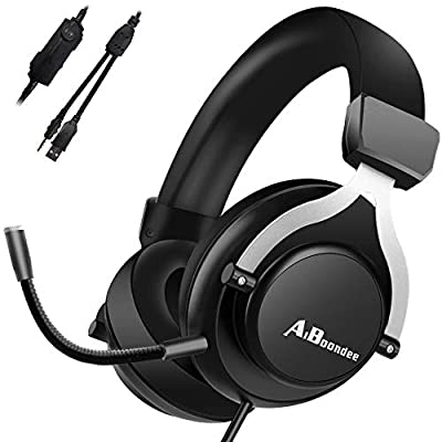Xbox One Gaming Headset for PS4,PC,LED Light On Ear Headphone with Mic for Mac,Laptop,Nintendo Switch Games Wired Headset