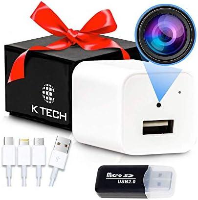 K Tech USB Hidden Camera Hidden Camera Hidden Nanny Cam Spy Camera Charger USB Charger Camera product image