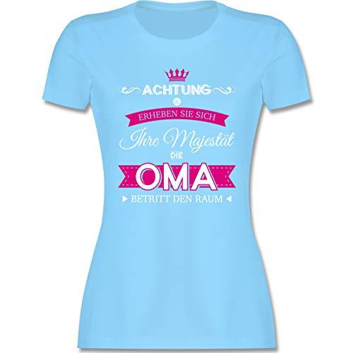Oma - Ihre Majestät die Oma - L - Hellblau - oma ihre majestät - L191 - Tailliertes Tshirt für Damen und Frauen T-Shirt