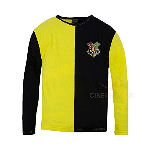 Cinereplicas - Harry Potter - T-Shirt - Stil Trimagisches Turnier und Quidditch - T-Shirt Cedric Diggory - Offiziel lizensiert - XS - Gelb und Schwarz