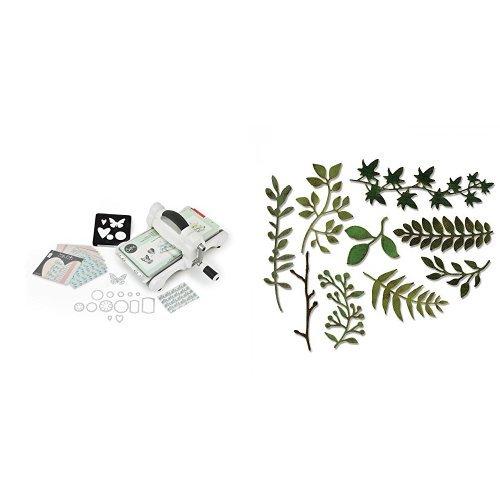 Sizzix Big Shot 661545 plus Starter Kit e Fustelle motivo Garden Greens by Tim Holtz 9 pz