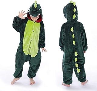 Shopzinia Kids Green Dinosaur Onesie for Kid Kigurumi Animal Pajama Halloween Costume For Cosplay, Fancy Dress Party, Hall...