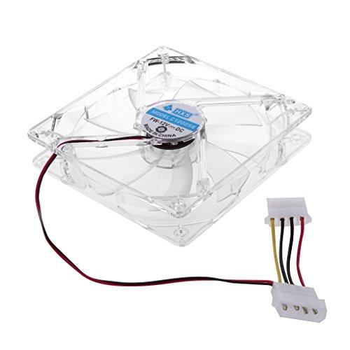 Yoging - 4 LED de colores con carcasa transparente para ordenador de 120 mm, radiador cuadruple, ventilador de refrigeración del procesador