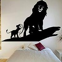 女の子のパーティーの結婚式に適した漫画の映画のキャラクターの壁のステッカーのライオンの壁のステッカービニールの取り外し可能な部屋の装飾