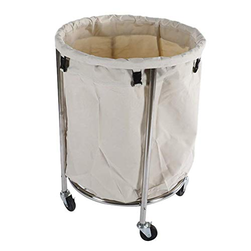 Portable cart -GR/Laundry Trolley Cleaning Serving Carts with Wheels – Commercial/Industrial/Home/Salon/Washing Basket…