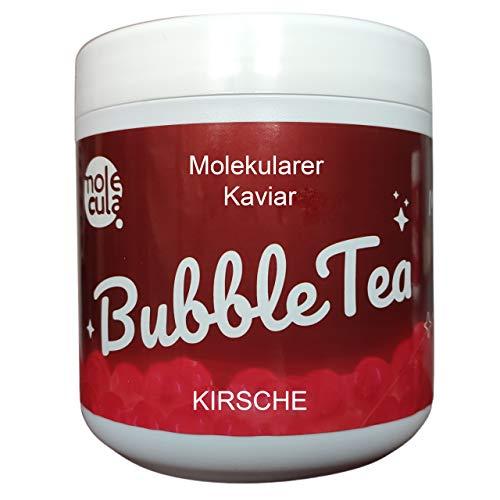 Bubble Tea ohne künstliche Farbstoffe Popping Boba Molekularer Kaviar Kirsche 800g Perlen 100% Vegan und Glutenfrei