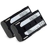 subtel® 2X Batería de Repuesto BP-915 BP-945 BP-930 BP-911 BP-941 BP-927 BP-924 BP-914 per Canon G2000 G1000 XF100 XF105 XL1s XL1 XL2 XH-A1 ES-5000 ES-300V, 2200mAh, Accu Sustitución Camara, Battery