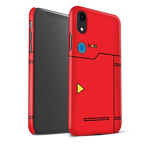 Matte Phone Case for Apple iPhone XR Anime Cartoon Codex Red Design Matt Hard Snap On Cover