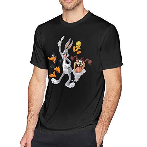 IUBBKI Bugs Bunny & Taz Tweety Daffy Camisetas de algodón Camisetas de Manga Corta para Hombre Tops
