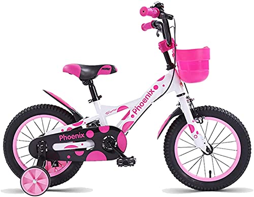 YAOJIA strider kids bike 14' 16' 18' Kids Bike Suitable For 3-13 Years Old Boy And Girl | With Training Wheel Adjustable Seat Children's Bicycle (Color : Pink, Size : 16in)