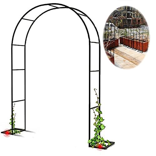 Arco De Jardín,Garden Arch,Arco De Rosa De Metal,Arco De Cenador,para Plantas Trepadoras,Pérgola De Jardín,Ayuda para Escalar,Enrejado,Resistente A La Intemperie,Decoración De Jardín Al Aire Libre