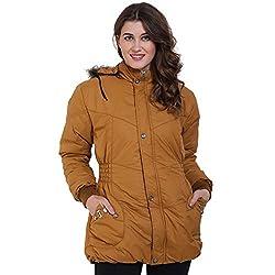 Derbenny Mustard Nylon Jacket For Women