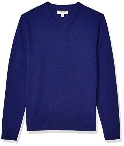 Amazon Brand - Goodthreads Men's Lambswool V-Neck Sweater, Bright Blue XXX-Large Tall