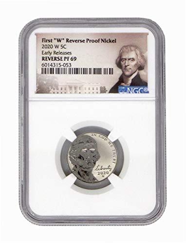 2020 W Reverse Proof Jefferson Nickel - West Point Mint Nickel REVPF69 NGC