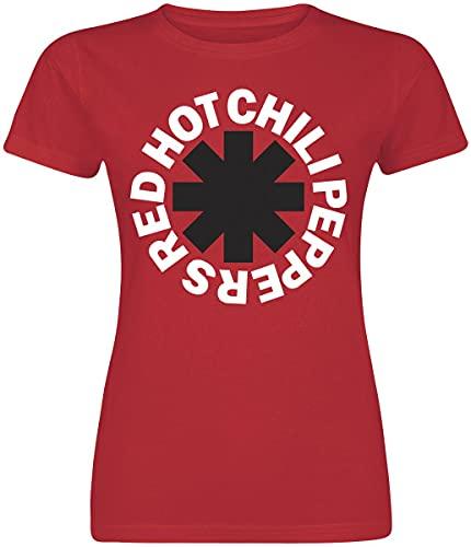 Red Hot Chili Peppers Classic Logo Mujer Camiseta Rojo XL, 100% algodón, Regular