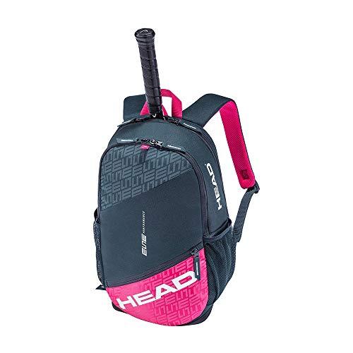 HEAD Unisex-Erwachsene Elite Backpack Tennistasche, anthrazit/pink, Einheitsgröße