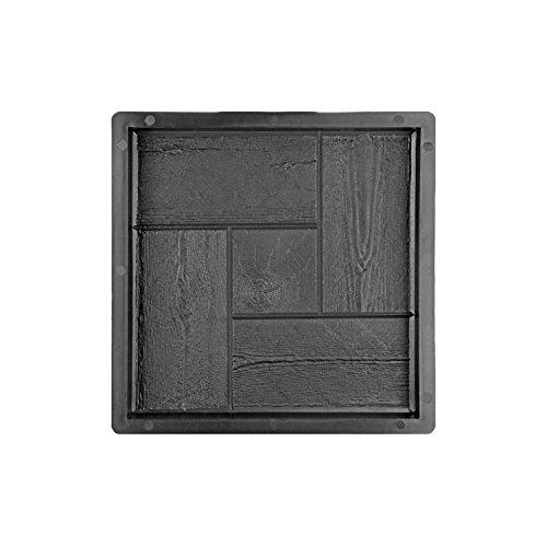 Tec Betonform Schalungsform Gieÿform Plastikformen Für Beton, Terrassenplatte - TritTSTeinplatte - Gehwegplatte - Betonplatte - TritTSTein, Kachel- & Holzoptik 30X30X3 Cm