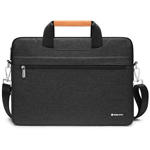 """NIDOO Borsa Porta PC Tracolla 13 Pollici Laptop Sleeve Notebook Custodia Portatile Lavoro Viaggio per 13"""" MacBook Air Pro/Surface Pro X/ThinkPad/Yoga/Dell XPS 13/MateBook 13 14 X Pro, Grigio Scuro"""