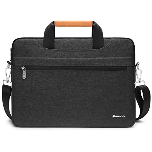 NIDOO 11.6-12 Inch Laptop Briefcase Carrying Bag Water-Resistant Computer Sleeve Case for 12.9' iPad Pro / 11.6' Dell Inspiron 11 / Lenovo Chromebook C330 C340 ThinkPad Yoga/HP Stream 11, Dark Grey
