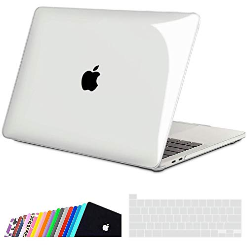 iNeseon Custodia per MacBook PRO 13 2020, Plastica Case Rigida Protettiva e Cover Tastieracon Touch Bar (A2251 A2289), Cristallino