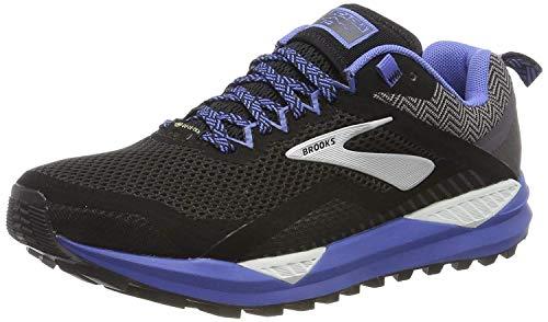 Brooks Women's Running Shoes, Black Black Grey Blue 053, 8 us