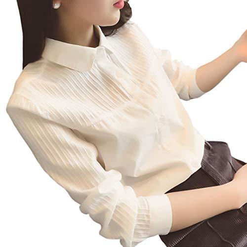 (イノ)Yino シャツ ブラウス レディース 白シャツ トップス 長袖 お洒落 フォーマル 大人 可愛い オフィス 通勤 OL 通学 カジュアル おしゃれ きれいめ 着痩せ