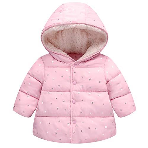 Taigood Bambino Piumino Invernale Caldo Foderato Cappotto Stella Modello Giacca Incappucciato Jacket Ragazzi Ragazze