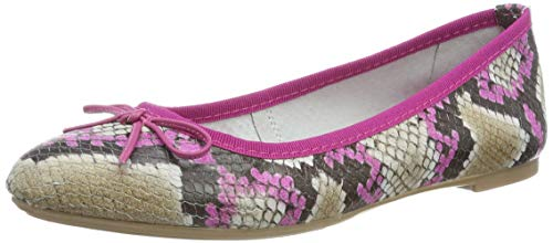 MARCO TOZZI Damen 2-2-22142-32 Geschlossene Ballerinas, Pink (Fuxia Struc. 544), 40 EU