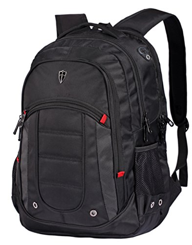 Victoriatourist Laptop Backpack College Rucksack Business Bag with 2 Laptop Tablet Compartments and USB Charging Port Fits MacBook Pro/Most 17 Inch Laptops