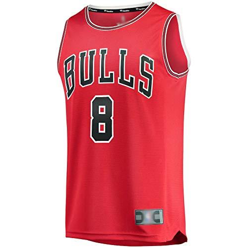 Camiseta de baloncesto para hombre Zach Chicago NO.8 Bulls LaVine Fast Break Replica Jersey Rojo de secado rápido Deportes de manga corta para hombre Edición Icono