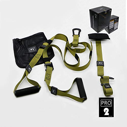 DIACLARA Bodyweight Fitness Resistance Kit Extension Strap for Door Pull Up Bar, Powerlifting Strength Training Kit Straps Home Gym Exercise Full-Body Workout Equipment(P3-2)(Green)