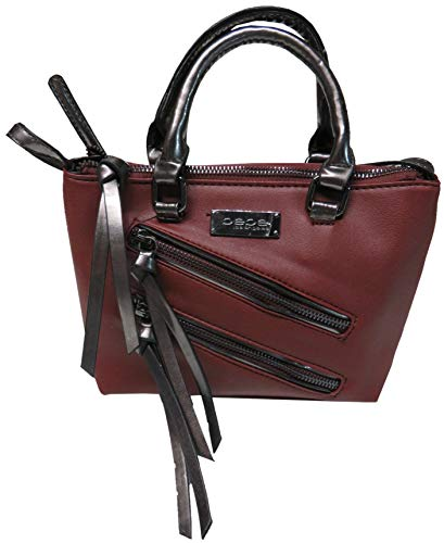 Bebe Women's Cynthia Mini Crossbody Tote Bordeaux