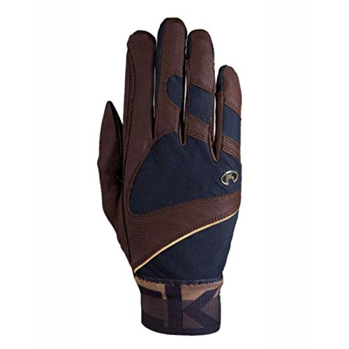 Roeckl Sports Handschuh -Milton, Unisex Reithandschuhe, Bund dehnbar, Mokka Größe 7,5