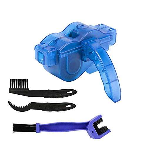 BTkviseQat Bike Chain Cleaner Tool Kit,Chain Cleaning Tools with Gear Chain Brush/Scrubber, for All Types of Bicycle/Cycling Mountain Bike Chains