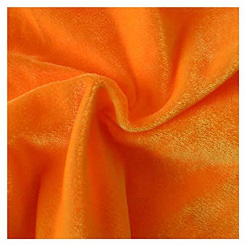 Tela de terciopelo amarillo de ganso, púrpura oscuro, terciopelo prensado, tela decorativa, tela artesanal, tela de terciopelo de seda, una variedad de colores puede elegir 1.6M (Color:Amarillo ganso)